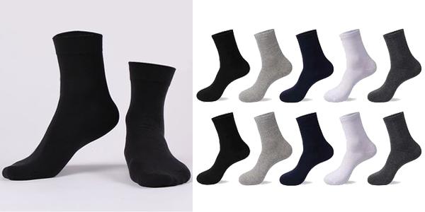 Pack x10 calcetines de algodón barato en AliExpress