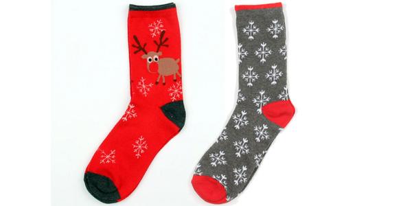 Calcetines navideños largos de diseño unisex chollazo en AliExpress