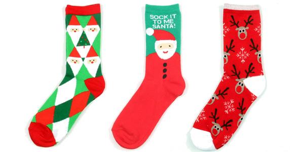 Calcetines navideños largos de diseño unisex chollo en AliExpress