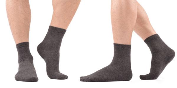 Pack barato de 10 calcetines transpirables para vestir de hombre
