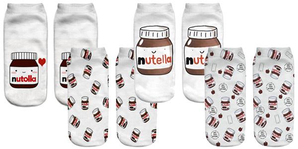Par Calcetines I Love Nutella o unicornios chollo en AliExpress