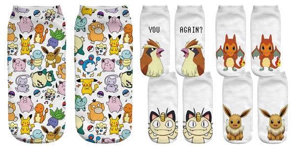 Selección calcetines tobilleros de Pokemon chollazo en AliExpress