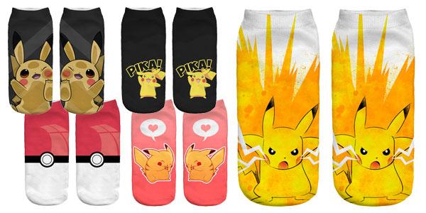 Selección calcetines tobilleros de Pokemon barata en AliExpress