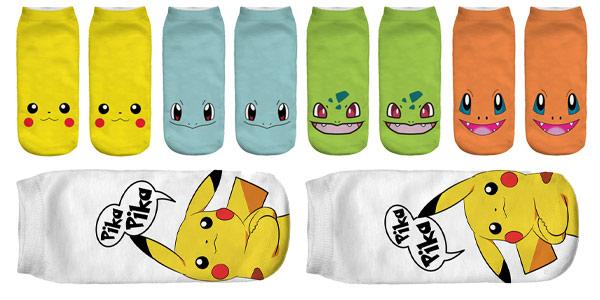 Selección calcetines tobilleros de Pokemon chollo en AliExpress