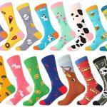 Selección de calcetines altos con divertidos diseños baratos en AliExpress