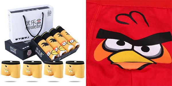 Calzoncillos bóxers Angry Birds baratos