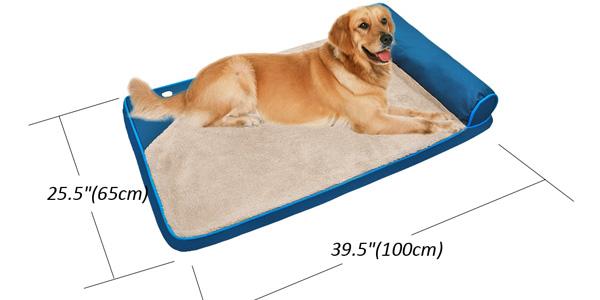 Cama acolchada con almohada para perros en AliExpress