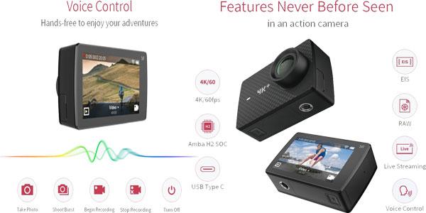 Cámara deportiva Xiaomi Yi 4K+ barata en Amazon