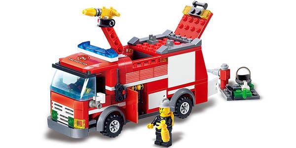 Camión de bomberos estilo LEGO