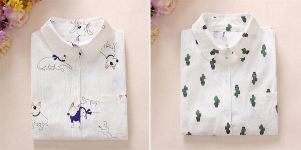 Camisas estampadas para mujer chollazo en AliExpress