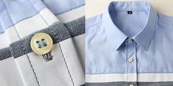 Camisa de hombre slim fit moda masculina barata