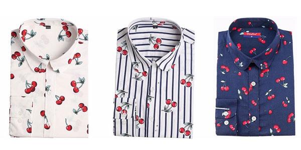 Camisa de manga larga estampada Dioufond en varios modelos