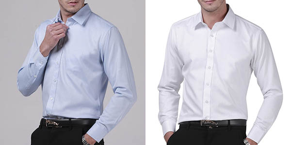 Camisa regular fit para hombre barata