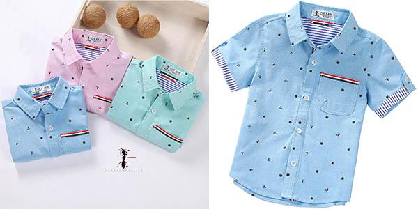 Camisa de manga corta para niño