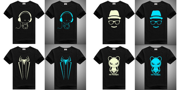 Camisetas infantiles de manga corta que se iluminan en la oscuridad chollo en AliExpress