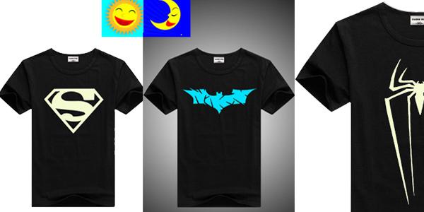 Camisetas infantiles de manga corta que se iluminan en la oscuridad baratas en AliExpress