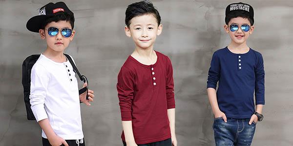 Camiseta de algodón para niño