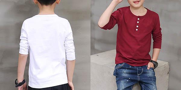 Camiseta de algodón niño barata