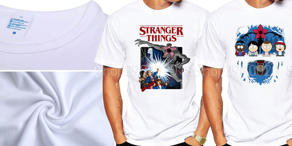 Camisetas de manga corta Stranger Things para hombre chollo en AliExpress