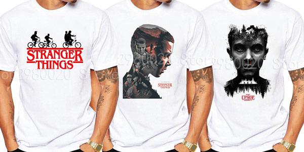 Camisetas de manga corta Stranger Things para hombre baratas en AliExpress
