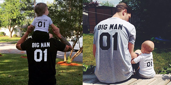 Camisetas Big Man y Little Man en AliExpress