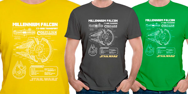 Camiseta Halcón Milenario de Star Wars para hombre barata