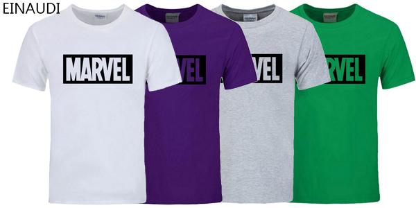 Camiseta de manga corta Marvel en varios colores