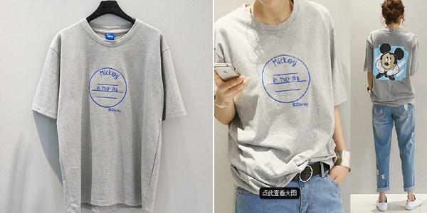 Camiseta de manga corta Mickey barata en AliExpress