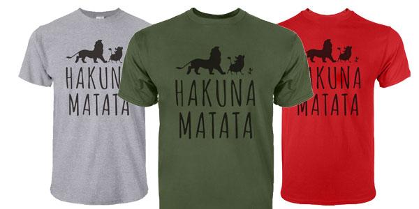 Camiseta de manga corta Hakuna Matata para hombre barata en AliExpress