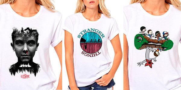 Camiseta de manga corta Stranger Things para mujer barata