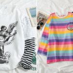 Camisetas de manga corta con divertidos estampados para mujer baratas en AliExpress