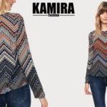 Camiseta de manga larga para mujer Kamira