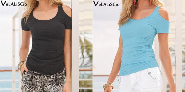 Camiseta Velaliscio para mujer chollazo en AliExpress