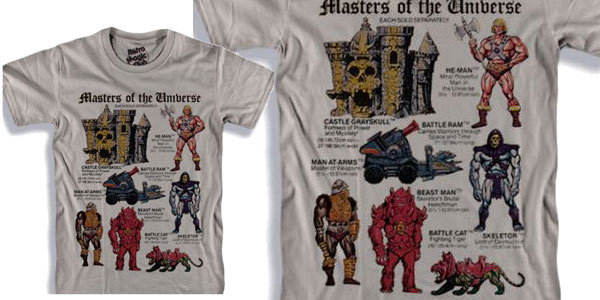 Camiseta de manga corta de He-Man (Masters of The Universe) chollo en AliExpress