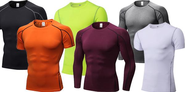 Camisetas de compresión Yuerlian para hombre baratas en AliExpress