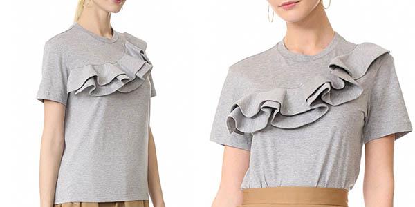 Camiseta de volantes para mujer