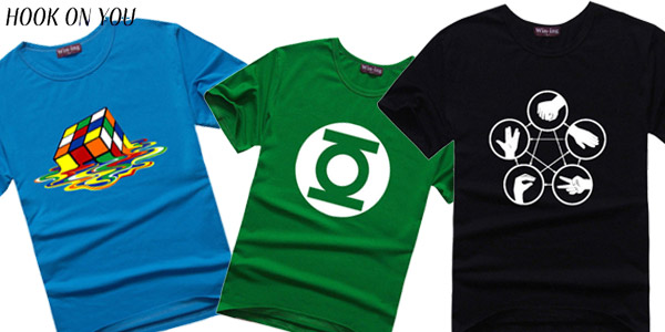 Camisetas de The Big Bang Theory en varios colores