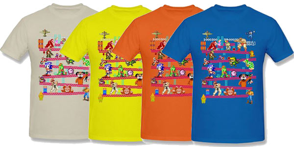 Camisetas con estampado gaming retro baratas en AliExpress