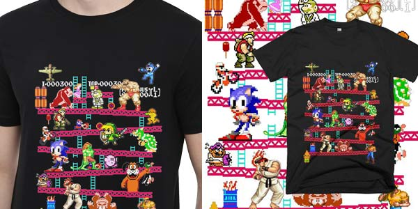 Camisetas con estampado gaming retro chollo en AliExpress