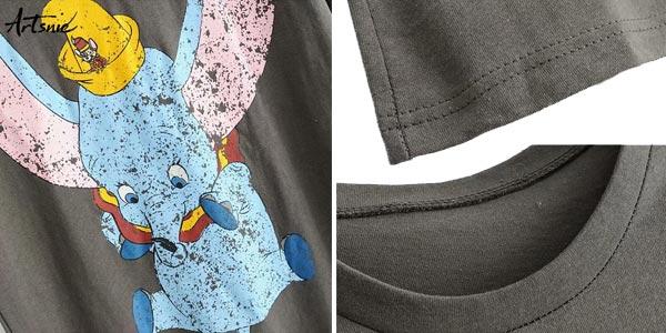 Camisetas Dumbo de manga corta para mujer chollo en AliExpress