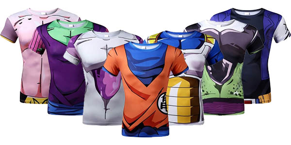 Camisetas de compresión Dragon Ball