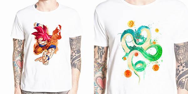 Camisetas de manga corta Dragon Ball baratas