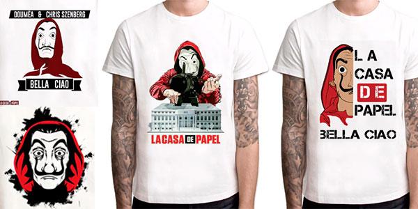Camisetas La Casa de Papel para hombre baratas