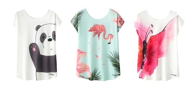 Selección de Camisetas de manga corta estampadas para mujer chollo en AliExpress