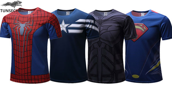 Camisetas de superhéroes baratas en AliExpress