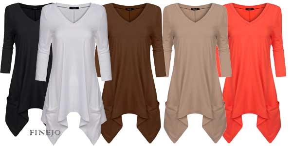 Camiseta de algodón Finejo para mujer