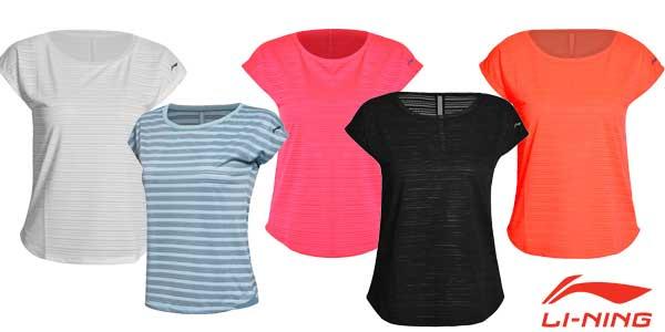 Camisetas de running Li-Ning para mujer