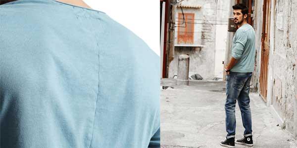 Camiseta manga larga Simwood 100% algodón para hombre chollazo en AliExpress