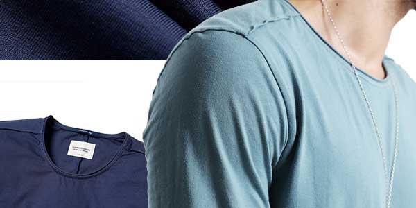 Camiseta manga larga Simwood 100% algodón para hombre barata en AliExpress