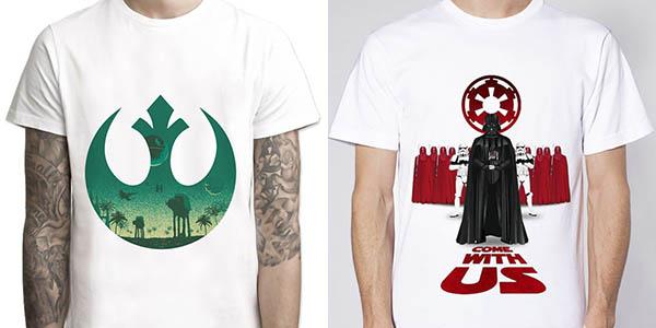 Camisetas Star Wars en varios modelos